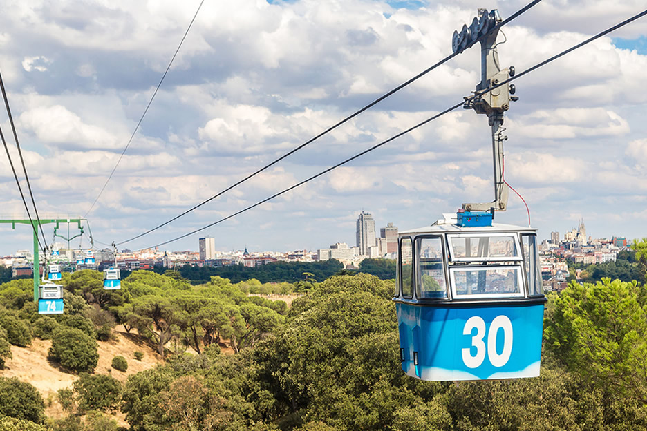 Ride the cableway